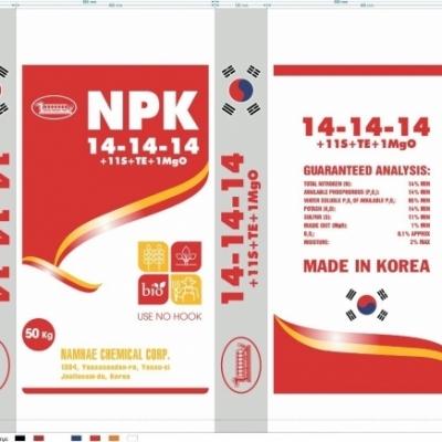 NPK 14-14-14+11S+TE+MgO (KOREA)