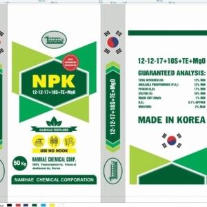 NPK 12-12-17+10S+TE+MgO (KOREA)