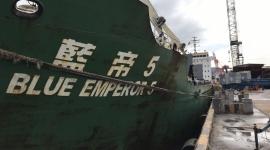 Tàu MV. BLUE EMPEROR 5 vận chuyển 10.600 tấn S.A P.R.C (Capro)  cập Cảng Quy Nhơn ngày 24/12/2018.