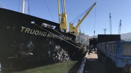 Tàu MV. TRƯỜNG MINH DRAGON vận chuyển 12.280 tấn S.A (Capro) dự kiến cập Cảng Quy Nhơn ngày 22/09/2018.