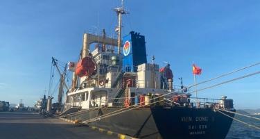 TÀU MV Viễn Đông 3 VẬN CHUYỂN HƠN 6.000 TẤN NPK 16-16-8+13S Korea CẬP CẢNG QUY NHƠN NGÀY 02/02/2021